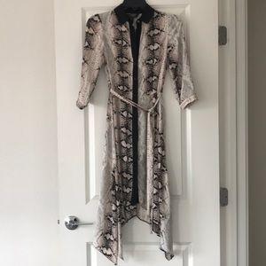 SOLD NWOT Handkerchief Snake-print Button Up Dress
